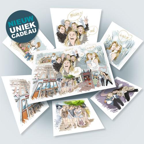 Uniek-karikatuur-cadeau-Grimm-studio