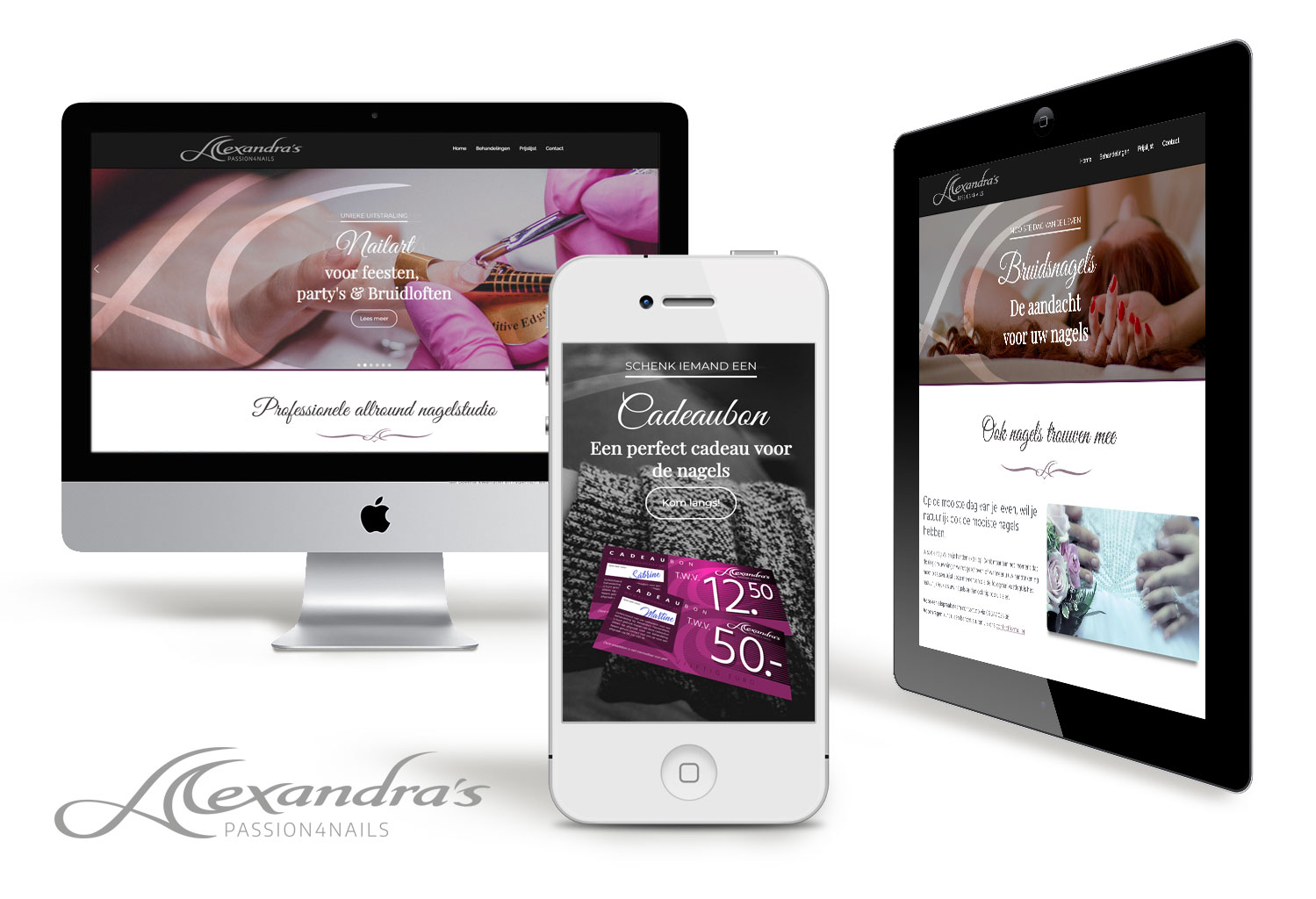 Webdesign-a-passion4nails-grimmstudio