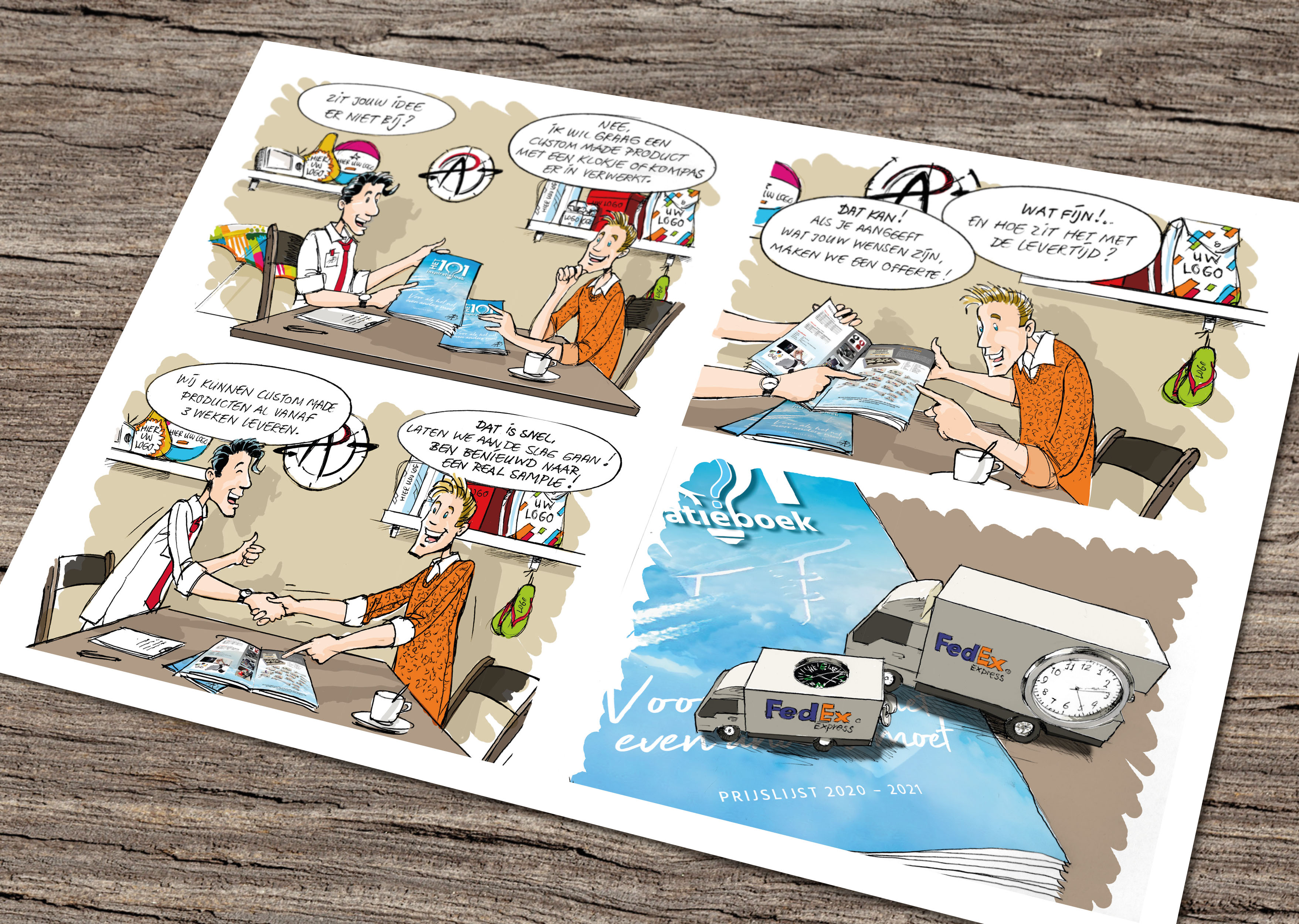 Product comic illustratie-Grimmstudio