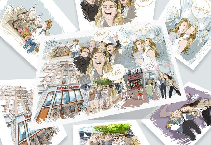 002-Karikaturen-familie-vrienden